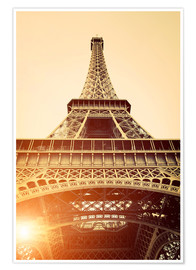 Premiumposter  Vintage Eiffel Tower, Paris