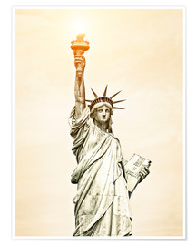 Poster  Liberty Statue in New York, USA