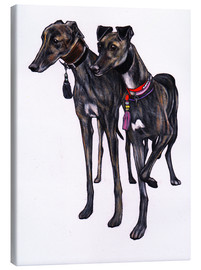 Canvastavla  Brindle greyhounds - Jim Griffiths