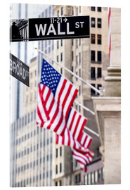 Akrylglastavla  Wall street skylt, New York Stock Exchange