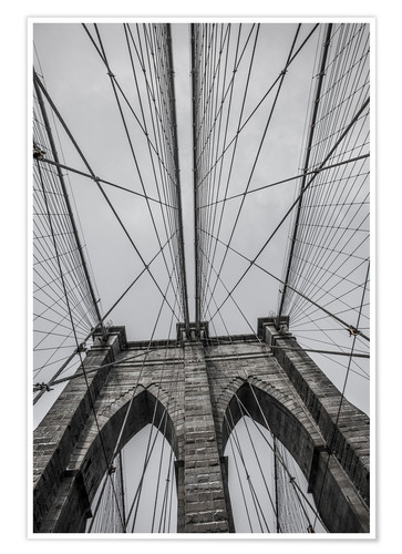 Premiumposter Brooklyn Bridge i New York