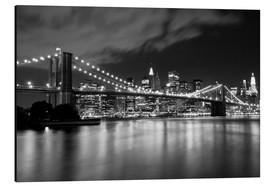 Aluminiumtavla  Brooklyn Bridge - Night scene