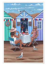 Poster  Beach Huts Afternoon Tease (Variant 1) - Peter Adderley