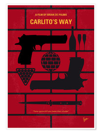 Poster No530 My Carlitos Way minimal movie poster
