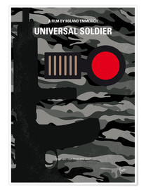 Poster No523 My Universal Soldier minimal movie poster