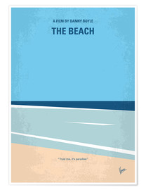 Poster No569 My The Beach minimal movie poster