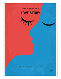 Poster No600 My Love Story minimal movie poster