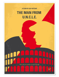 Premium poster No572 My Man from UNCLE minimal movie poster