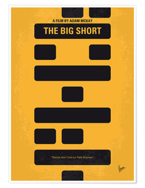 Premium poster No622 My The Big Short minimal movie poster