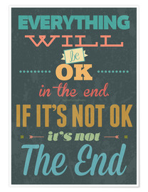 Premiumposter Everything will be ok