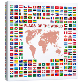 Canvastavla  Flags of the world
