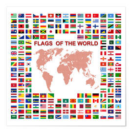 Premiumposter  Flags of the world