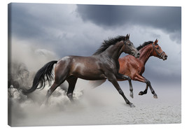 Canvastavla  Horses in the storm