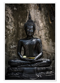 Premiumposter Black Budda