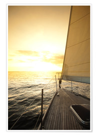 Premiumposter  Sailboat in the open sea