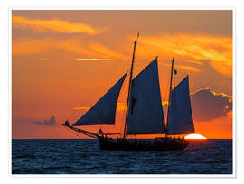 Premiumposter  Hanseatic sailing ship