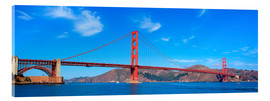 Akrylglastavla  panoramic view of Golden Gate Bridge