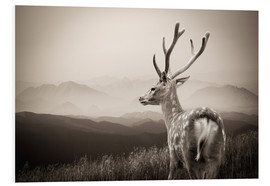 PVC-tavla  Stag in the mountains