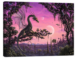 Canvastavla  Dragon in Paradise - Susann H.