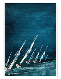 Premiumposter Sailboats, abstract