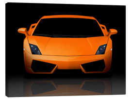 Canvastavla  Bright orange supercar