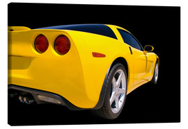 Canvastavla  Yellow Corvette - sports car