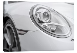 Canvastavla  White Sportscar - Detail