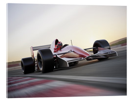 Akrylglastavla  F1 racing car in motion