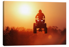 Canvastavla  Driving quad