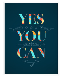 Premiumposter  Yes you can - Typobox