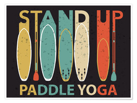Premiumposter  Stand up paddle yoga - Typobox