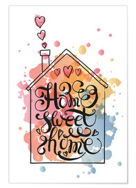 Premiumposter Home sweet home