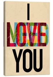 Canvastavla  I love you, i need you - Typobox