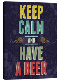 Canvastavla  Keep calm and have a beer - Typobox