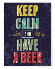 Premiumposter Keep calm and have a beer