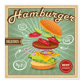 Premiumposter  Delicious Hamburger