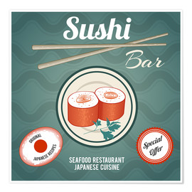 Premiumposter Sushi bar
