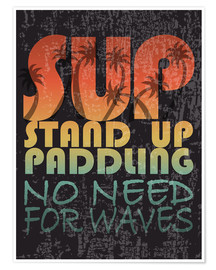 Premiumposter  Stand up paddling