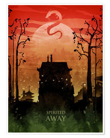 Poster  Spirited away - Albert Cagnef