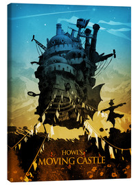 Canvastavla  Howl's Moving Castle (Det levande slottet) - Albert Cagnef