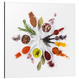 Aluminiumtavla  Spice and herb'clock