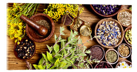 Akrylglastavla  natural medical herbs
