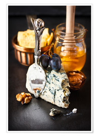 Premiumposter  Delicious blue cheese with honey
