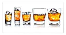 Premiumposter  alcoholic drinks with natural ice
