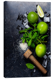 Canvastavla  Mojito ingredienser