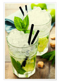 Premiumposter  Mojito cocktail with ingredients