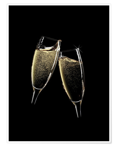Premiumposter Cheers! Two champagne glasses