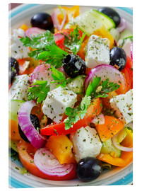 Akrylglastavla  greek salad