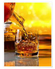 Premiumposter  Whiskey with ice