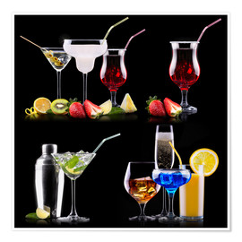 Premiumposter different alcohol drinks